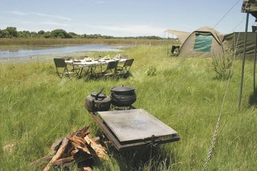 Bush Frühstück, Botswana Komfort Camping