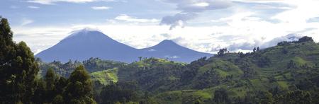 Silhouette der Virunga-Vulkane