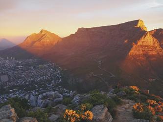 Sonnenuntergang in Kapstadt, ©Karawane