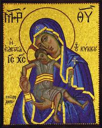 Mosaik der Jungfrau Maria, Kykkos Kloster, Zypern - ©kzarovska - Fotolia
