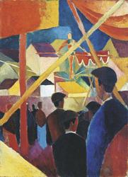 August Macke, Seiltänzer, 1914. Kunstmuseum Bonn, ©Kunstmuseum Bonn