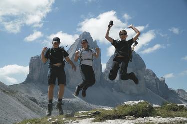 Gruppe vor den Drei Zinnen, ©Hagen Alpin Tours