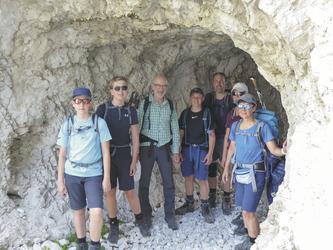 Aufstieg zum Lagazuoi , ©Hagen Alpin Tours