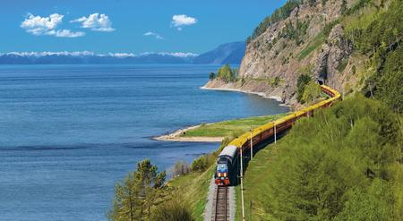 Sonderzug Zarengold am Baikal-See