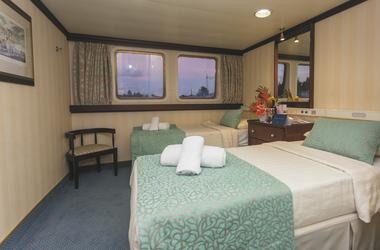 Kabine Kat. A mit getrennten Betten - copyright Variety Cruises, ©Steve Nibourette Photography