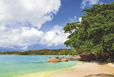 Anse Lazio auf Praslin Island - copyright Variety Cruises