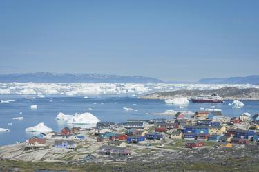 Eisberge im Fjord bei Qeqertarsuaq - c Kate Jordahl, ©Kate Jordahl