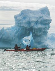 Kajak-Tour zum Eisberg - c Karsten Bidstrup, ©Karsten Bidstrup