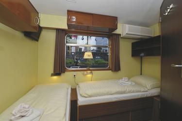 2-Bett-Außenkabine auf dem Promenadendeck auf der MS SIR WINSTON, © MAP - MARKUS ABELING PHOTOGRAPHY