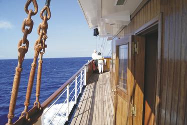 An Deck der MY GALILEO - Variety Cruises