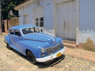 Restaurierter Oldtimer in Trinidad