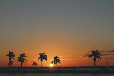 Sonnenuntergang in Chetumal