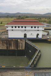 Miraflores-Schleuse am Panama-Kanal
