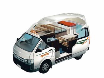 Apollo HiTop Camper Wohnmobil 2-Bett, ©Apollo