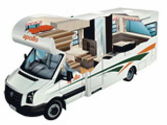 Apollo Eurostar Camper 4-Bett Australien / Neuseeland Durchsicht /Querschnitt