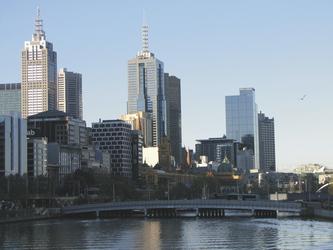 Blick auf Melbournes Skyline, ©Karawane