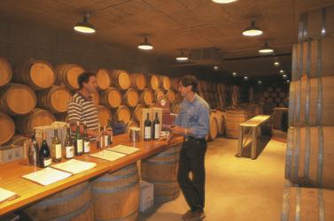 In einem Weinkeller im Barossa-Valley