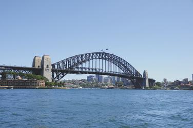 Blick auf die Harbour Bridge von Sydney