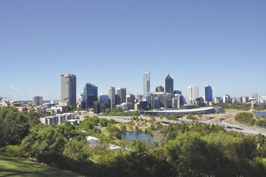 Blick auf Perth vom Kings Park aus