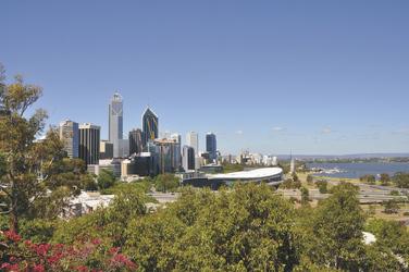 Skyline von Perth - Blick vom Kings Park