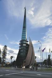 Blick auf Glockenturm Swan Bells in Perth