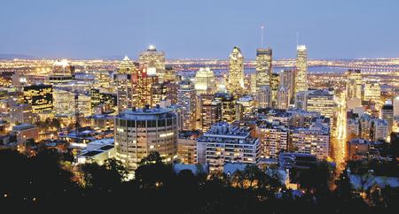 Skyline von Montréal bei Nacht - c Tourisme Montréal, ©Tourisme Montréal